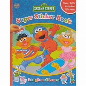 shop sesame street super sticker book at lowescom With what kind of paint to use on kitchen cabinets for super street sticker