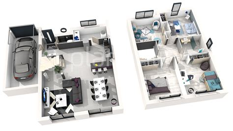 plan maison simple 3 chambres maison exa