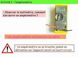 Amperemetre En Serie : chapitre 8 la grandeur intensit et sa mesure ~ Premium-room.com Idées de Décoration