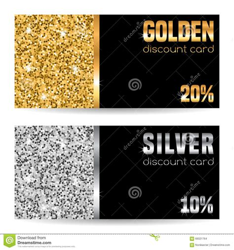 discount card template stock vector image  metal dust