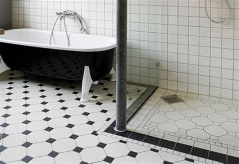 Black And White Tile Floor Decorating