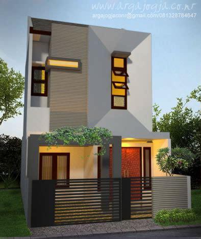 desain fasad unik minimalis rumah  lantai lebar  meter