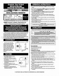 Lux Psd111 Installation And Operating Instructions