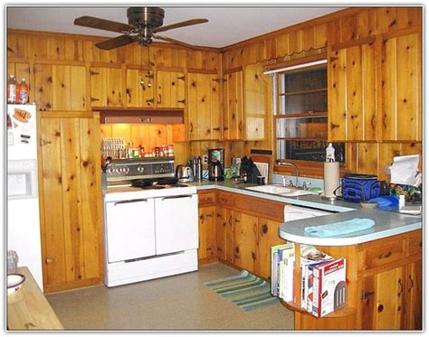 painting knotty pine cabinets vintage knotty pine kitchen cabinets google search
