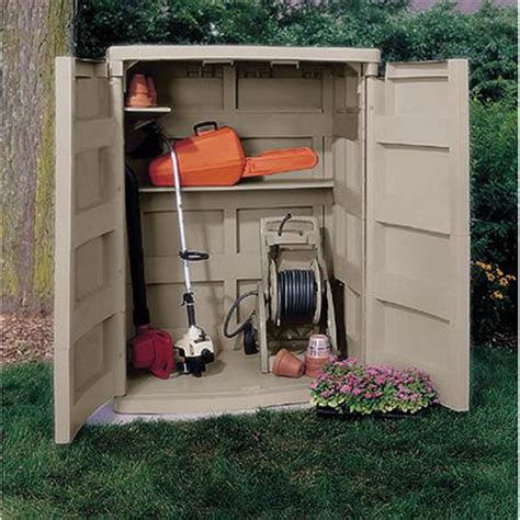 Suncast Outdoor Vertical Storage Shed by Suncast 174 Vertical Garden Shed 138476 Patio Storage At