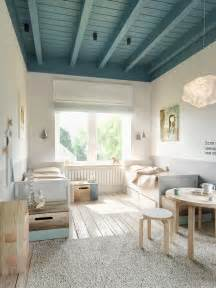 Deco Chambre Style Scandinave by Teal Ceiling Beams Interior Design Ideas