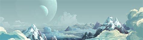 Fantasy Landscape Wallpaper Hd Dual Monitor Digital Art Mountain Wallpapers