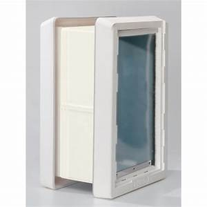 ideal quotruff weatherquot insulated pet dog door 2 flaps wall With ruff weather dog door flaps