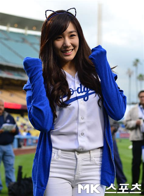 update tiffany throws opening pitch  los angeles