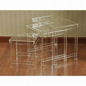 lucite nesting tables cb2nesting tables view full size With acrylic nesting coffee table