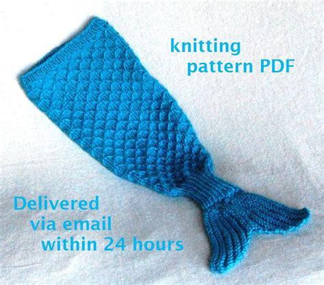 mermaid tail cocoon knitting pattern charming newborn