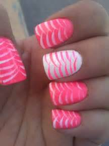 White and pink nail designs hair styles