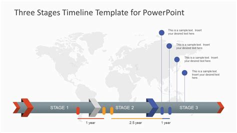 timeline template ppt three stages timeline template for powerpoint slidemodel