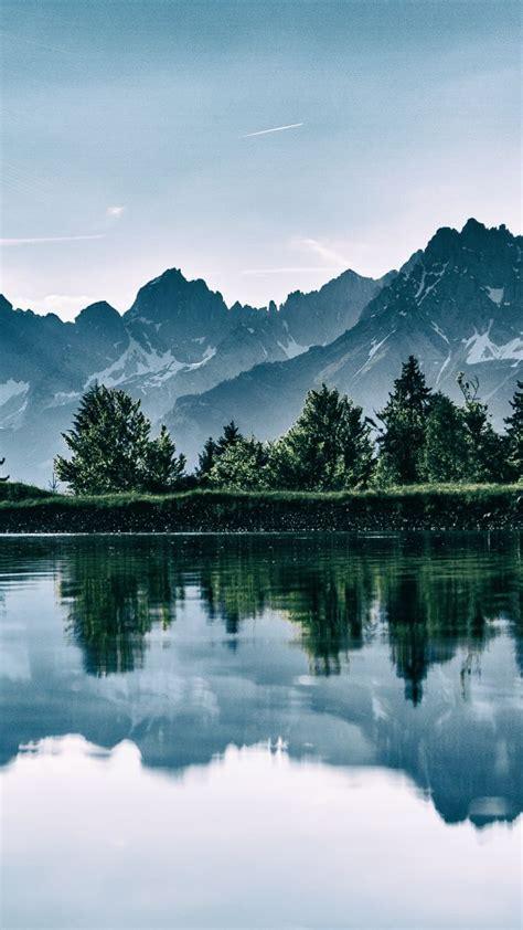 Wallpaper Mountain, Lake, Trees, 4k, Nature #16728