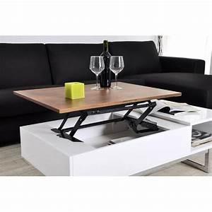 Table Avec Rangement : tables relevables meubles et rangements table basse tagg rehaussable avec coffre de rangement ~ Teatrodelosmanantiales.com Idées de Décoration