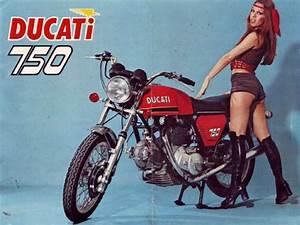 L  H  Exhaust Manifold Conti Original Vertical Head Ducati 750gt  750s  750ss