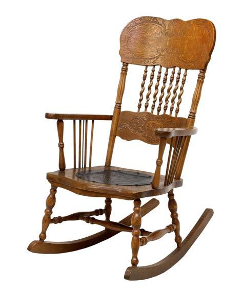 american oak press back rocking chair winter estates