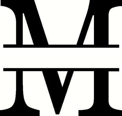 monogram  vinyl decal car decal monograms decals  wall works identity design logo