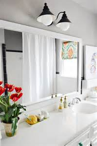 DIY Frame around Bathroom Mirror