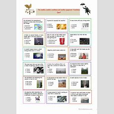 The Weather Vocabulary Quiz! Worksheet  Free Esl Printable Worksheets Made By Teachers