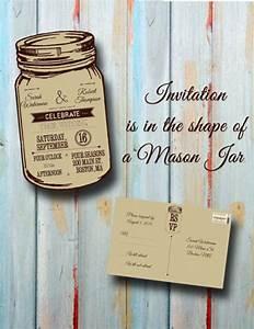 custom personalized rustic mason jar wedding invitation With mason jar wedding invitations with rsvp cards