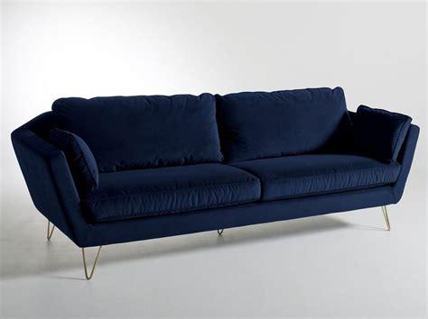 canapé velours bleu un canapé 4 possibilités joli place