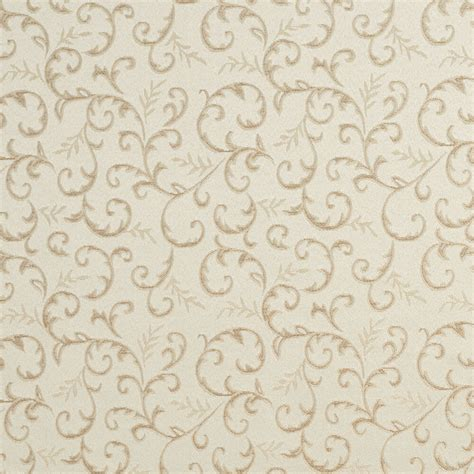 Upholstery Fabric by E642 Abstract Floral Ivory Silver Damask Upholstery Fabric