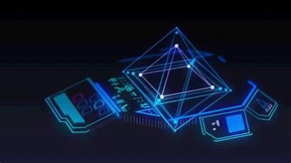 Futuristic Graphics Ui Gifs 3d Cyberpunk Loading