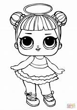 Coloring Lol Doll Pages Sugar Printable Drawing Paper sketch template