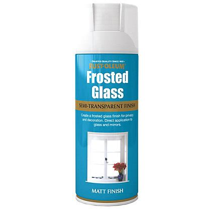 rust oleum spray paint frosted glass ml