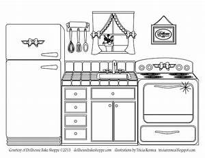 a coloring page decorate your own kitchen from lindsay With kitchen colors with white cabinets with free christmas wall art printables