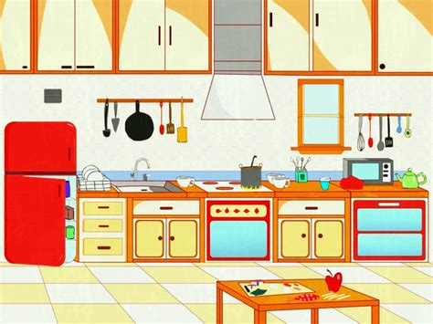 Kitchen Layout Vector by Clipart Kitchen Kitchen Layout Graphics Illustrations