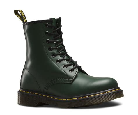 dr martens unisex  green classic smooth leather  eye ankle  boots ebay