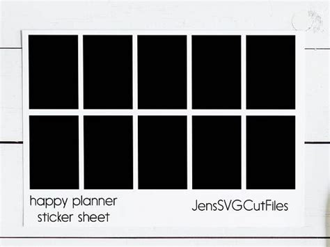 I have one more valentine's day svg for you! Happy Planner Sticker Template PSD Instant Download ...