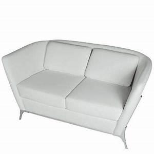 Canapé 2 Places Simili Cuir : canap 2 places olympe coloris blanc simili cuir ~ Teatrodelosmanantiales.com Idées de Décoration