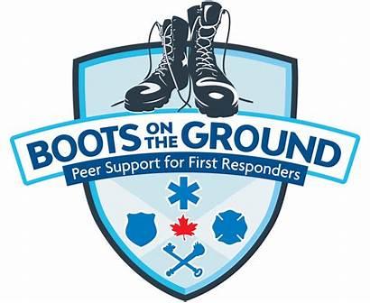 Responders Support Peer Ground Boots Ptsd Awareness