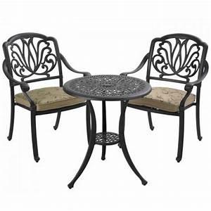 hartman bistro tisch 62cm rund amalfi bronze alu guss art With französischer balkon mit garten bistro set