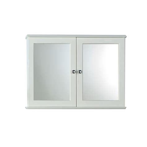 Estilo Arizona Double Bathroom Cabinet  White At Homebase