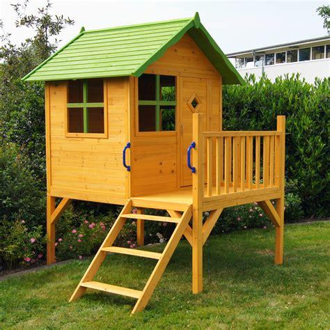 kinder gartenhaus holz kinderspielhaus stelzenhaus gartenhaus spielhaus f 252 r kinder aus holz kinderhaus ebay