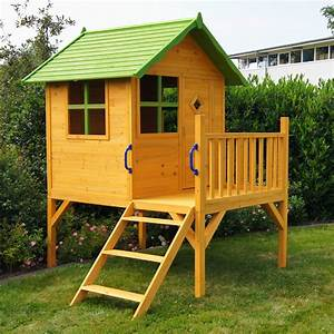 kinderspielhaus stelzenhaus gartenhaus spielhaus fur With französischer balkon mit garten kinderhaus