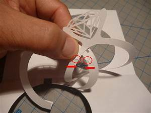 wedding invitation pop up card linked rings tutorial With wedding invitation linked rings pop up card template