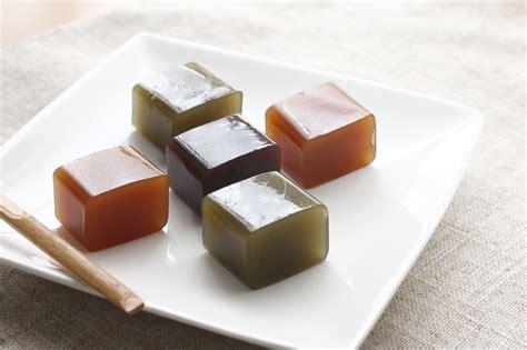 Mizu Yokan, a Japanese Wagashi Red Bean Jelly Dessert