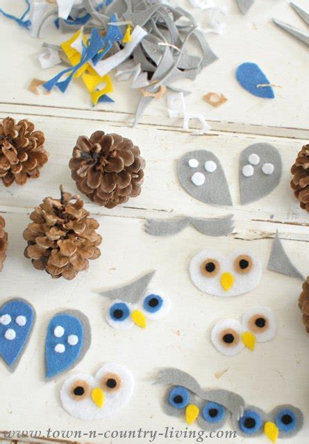 owl creations from pine cones and fluff hometalk pine cone owls