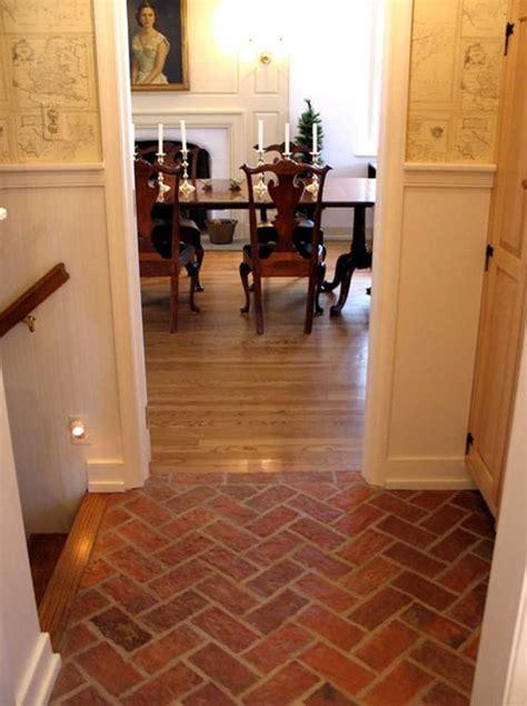 faux brick flooring fake brick flooring great white wall painted also faux brick herringbone tile floor as