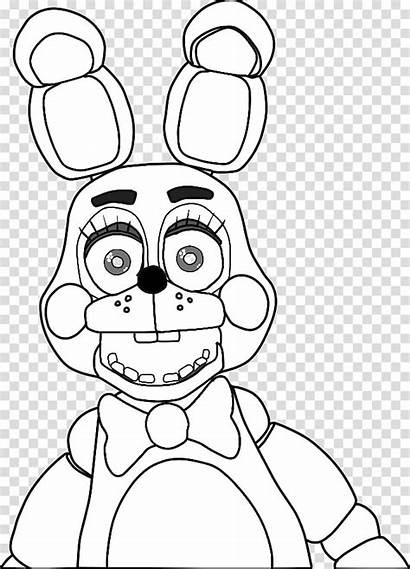 Coloring Bonnie Pages Freddy Nights Five Fnaf
