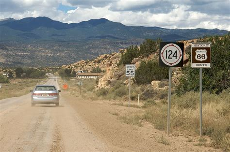 Picture Of Historic Route 66 U S Route 66 In New Mexico