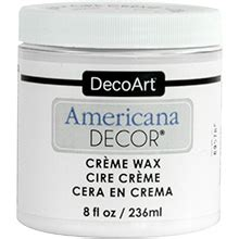 Americana Decor Creme Wax Application by Decoart Americana Decor Chalky Finish Finishes