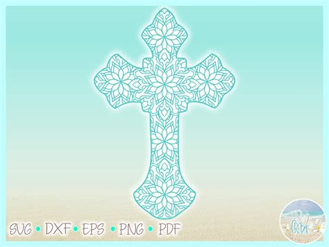 If you have questions, please feel free to contact me! Cross Mandala Zentangle SVG Dxf Eps Png PDF files for ...