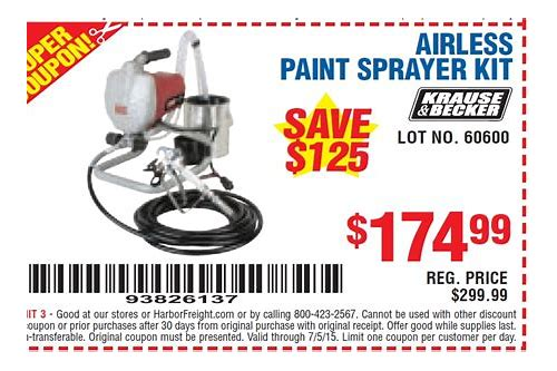 Harbor freight paint sprayer coupon