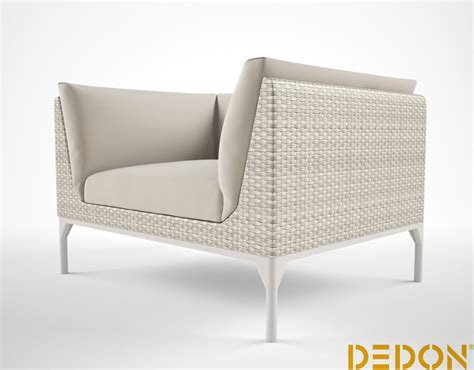dedon mu lounge chair 3d model max cgtrader